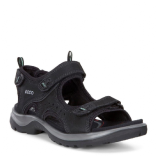 ECCO Ladies Offroad Black Yabuck Sandals